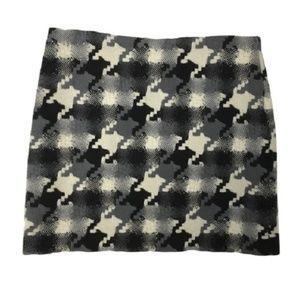 • J CREW Houndstooth woven Wool Skirt 4